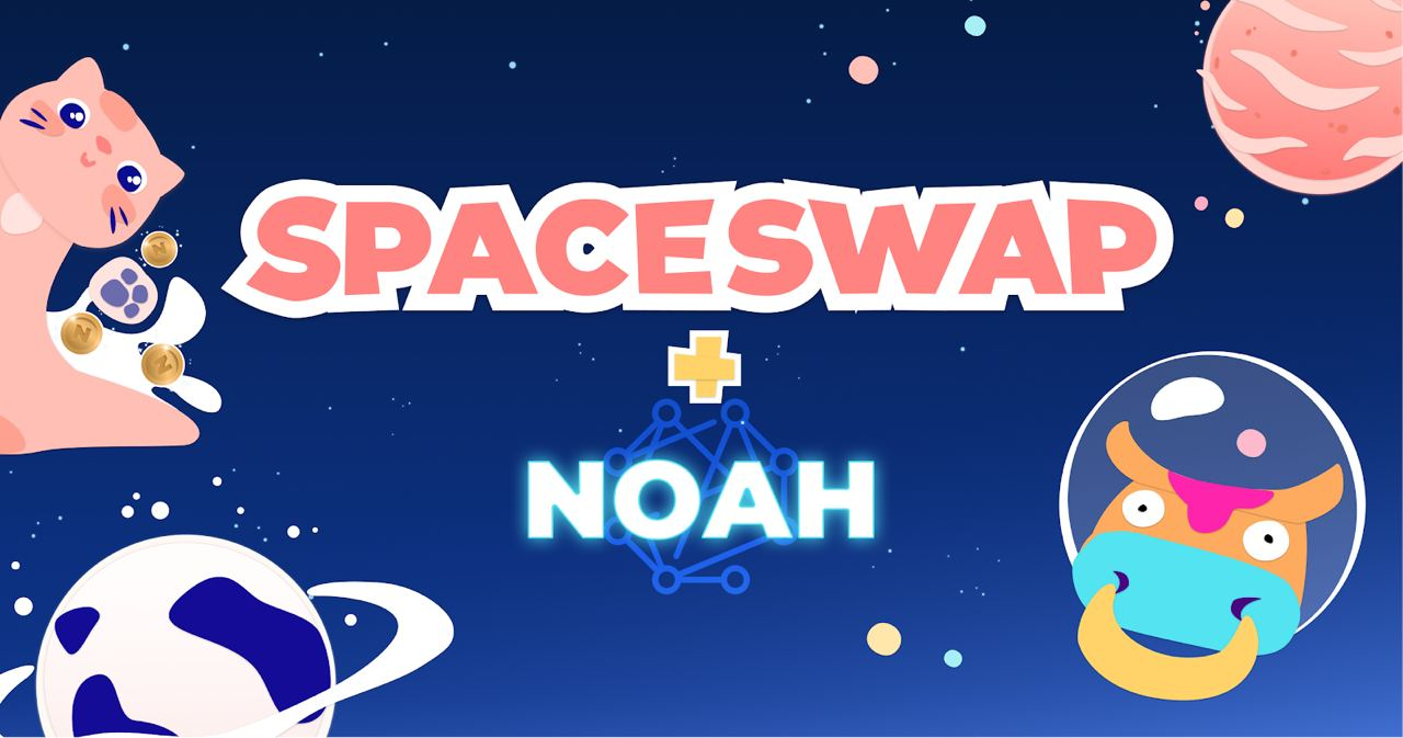 SpaceSwap step-by-step tutorial: getting MILK2 coins using NOAHP