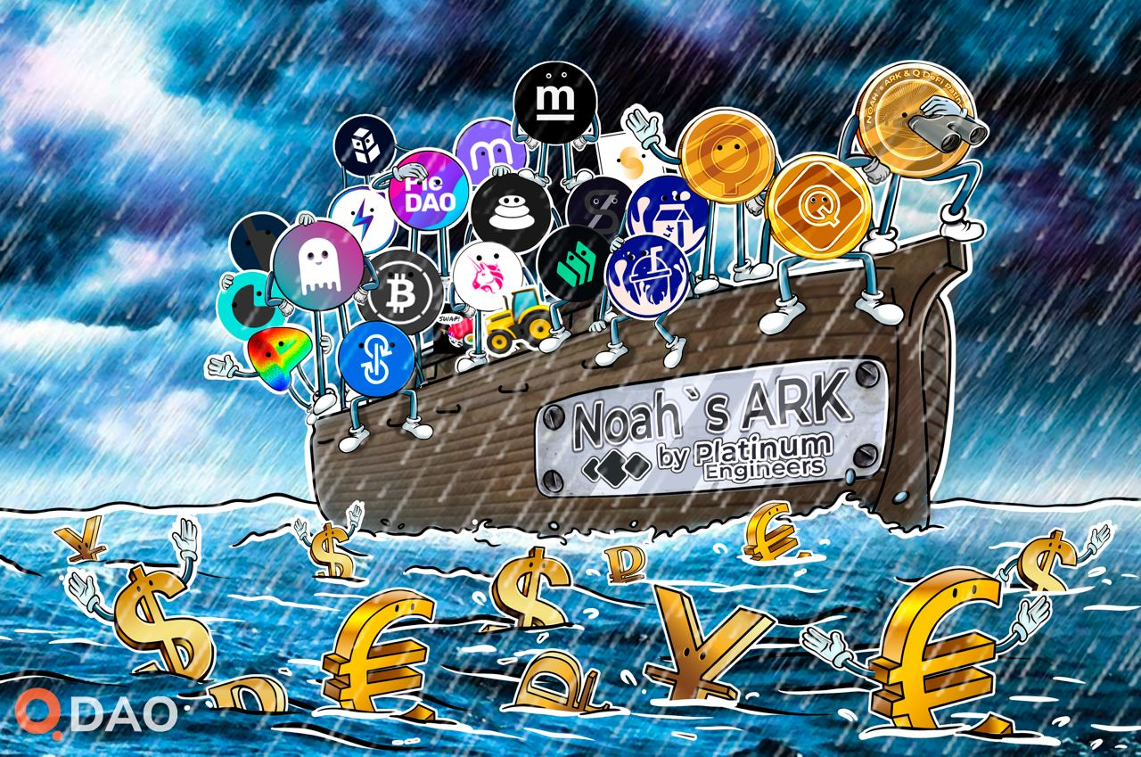Welcome on board of NOAH`S DeFi ARK. The journey to bankless society starts now!