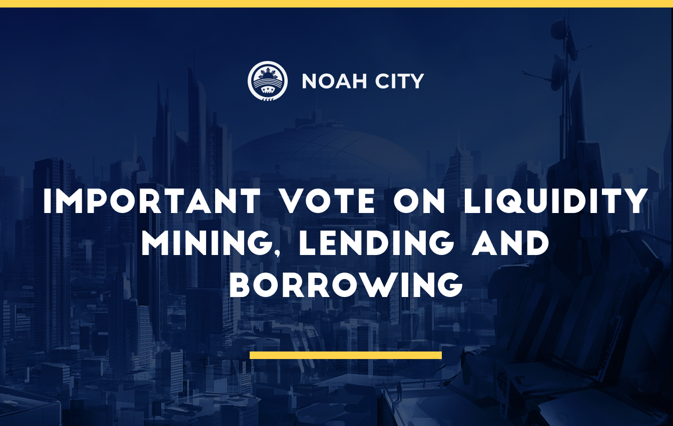 Important vote on liquidity mining, lending and borrowing