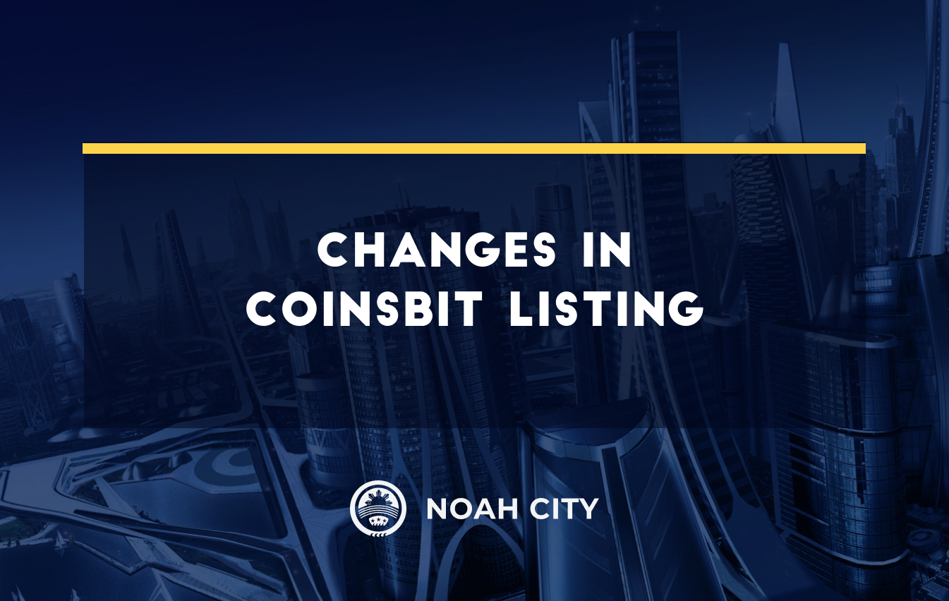 Changes in Coinsbit listing: the pair for staking is NOAHP/USDT