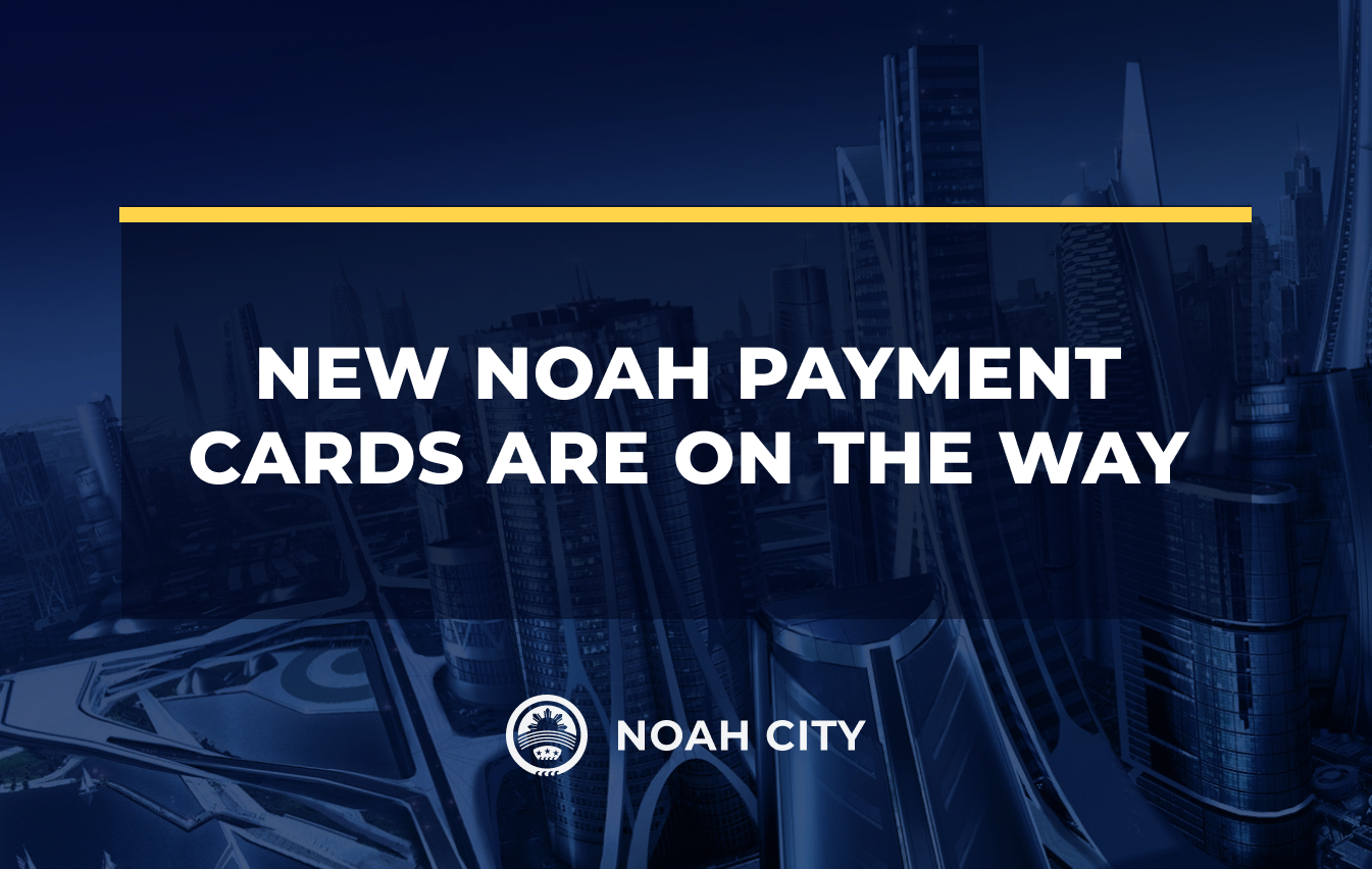 The new metal Noah Payment Cards are on their way!