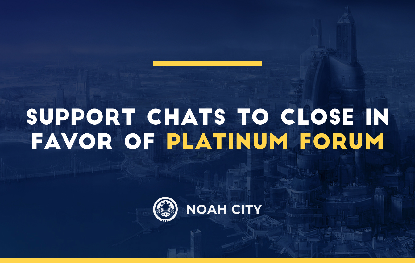 Support chats to close in favor of Platinum Forum